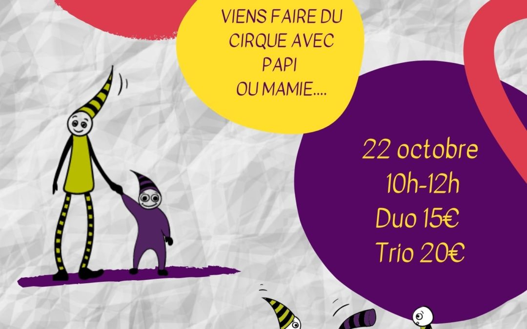Stage d'automne : mamie voltige et papi jongle