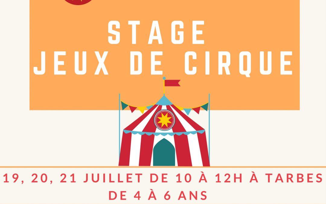 Stage Jeux de cirque du 19 au 21 juillet