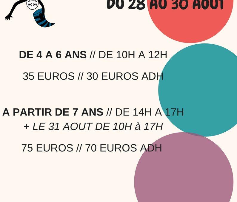 Stage cirque à gogo à Pierrefitte Nestalas du 28 au 30 août