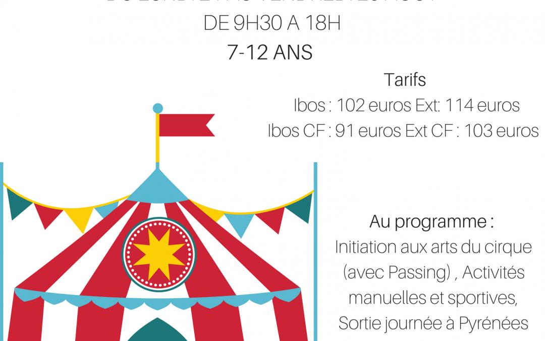 Stage de cirque à Ibos du 21 au 25 août